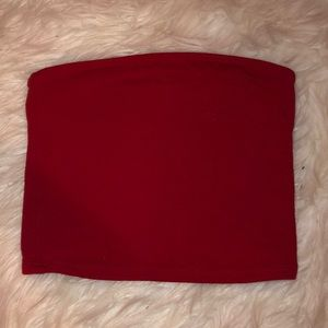 Red Simple Tube Top